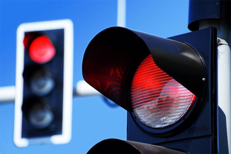 Il semaforo nel Gonfalone