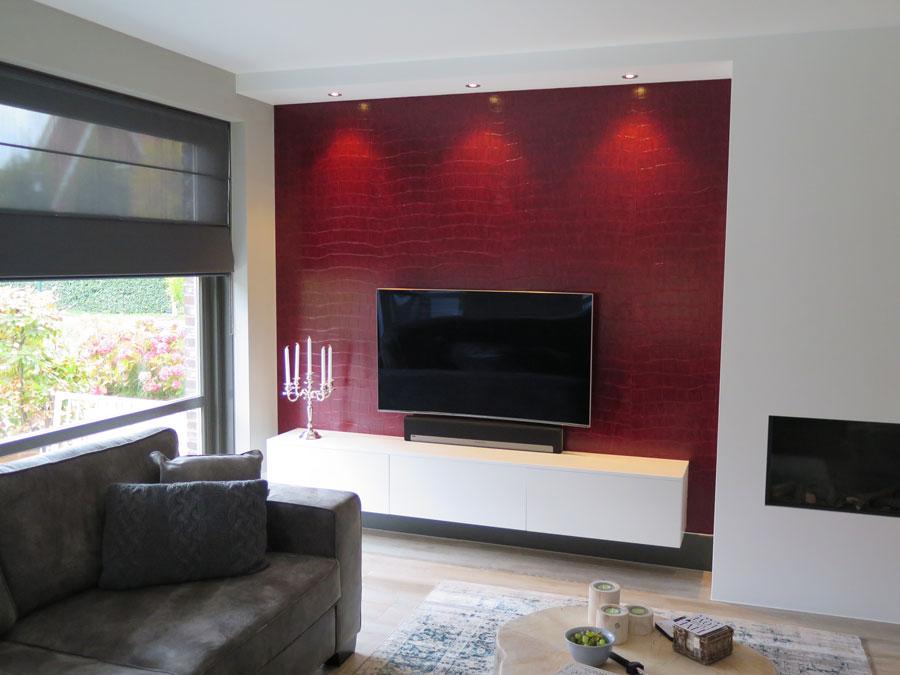 De Graaf Vlaardinge - TV meubel op maat gemaakt, hoogglans wit