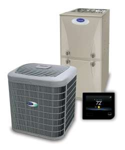 Carrier heating and cooling equipment offered by Degree.