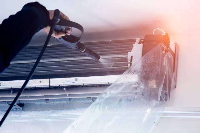 Ductless HVAC repair.
