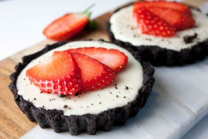 oreo cheesecakes close up
