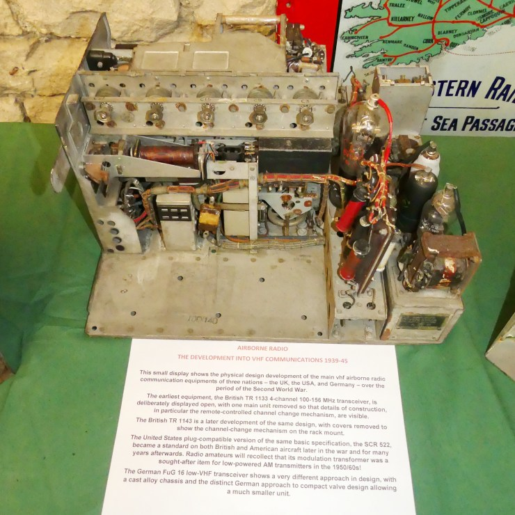 DEHS Burns Spring Lecture 2019 equipment display: TR1133 opened up (Phil Judkins). Photo by Dick Green.