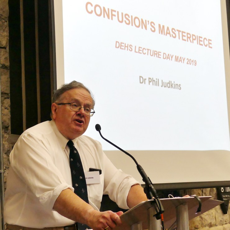 DEHS Burns Spring Lecture 2019 speaker Dr Phil Judkins. Photo by Dick Green.