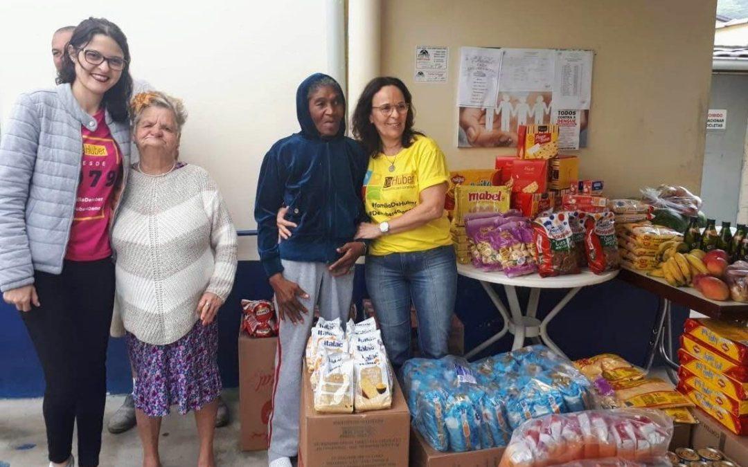 Responsabilidade social: De Huber conclui sua campanha de aniversário e entrega alimentos ao Lar Vila Vicentina