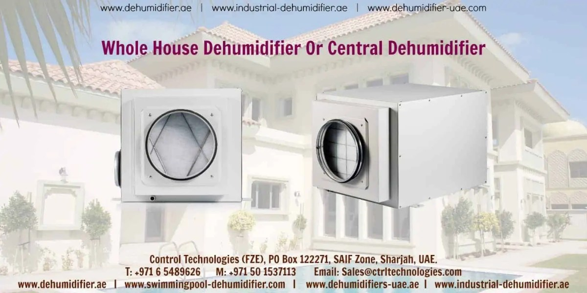 Whole house dehumidifier which is central and compact