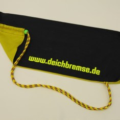Tragetasche Schwarz/Pink-Grün – Kordel mehrfarbig