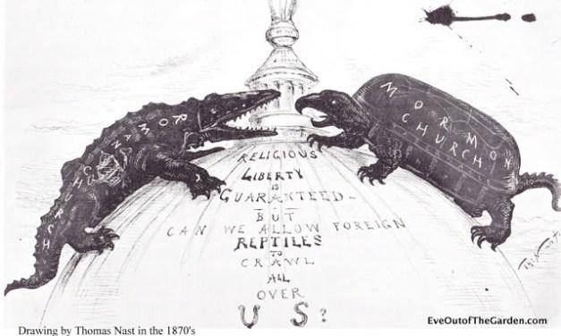 Mormons and Catholics in 1870 comics