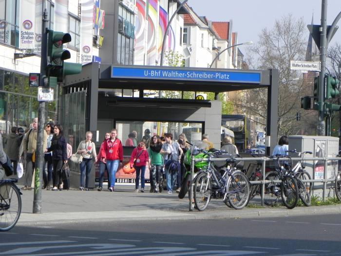 U-Bahnhof Walther-Schreiber-Platz, Berlin-Friedenau, Schloßstraße,  Bundesallee, Rheinstraße [Bahnhof]