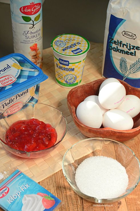ingrediënten- rolcake