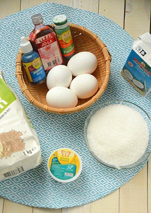 ingrediënten- kue- pelangi- regenboogcake