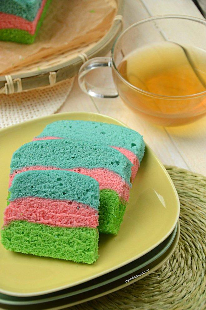 kue -pelangi- regenboogcake