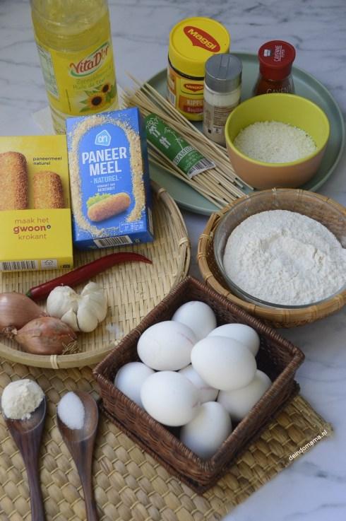 ingrediënten crispy saté dadar