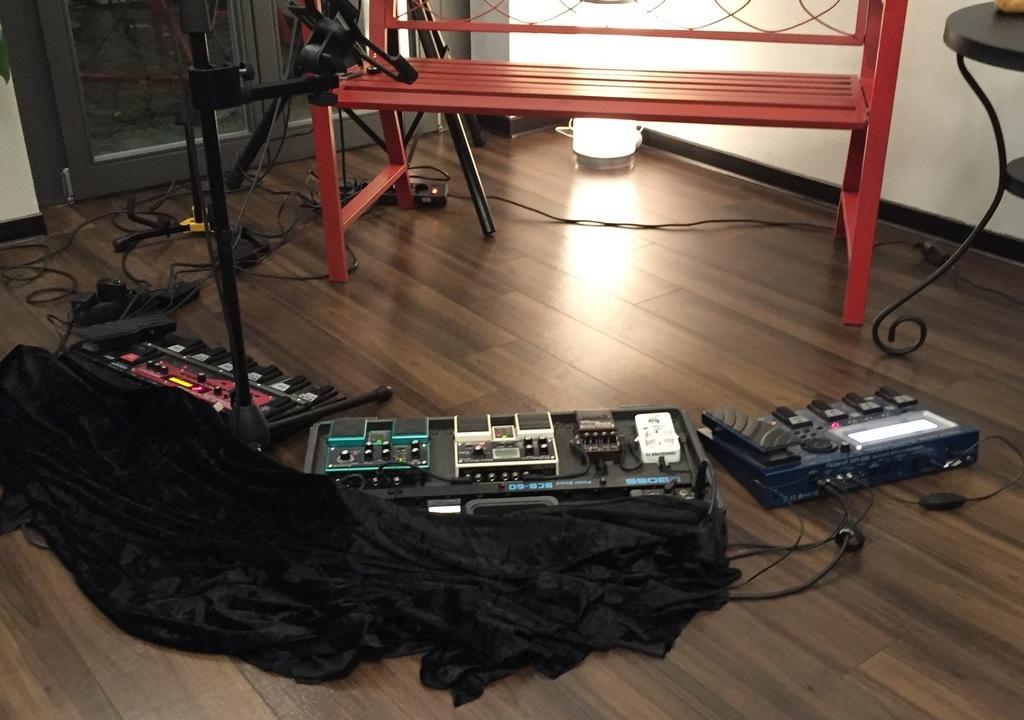 Looper Bank Gitarren Setup