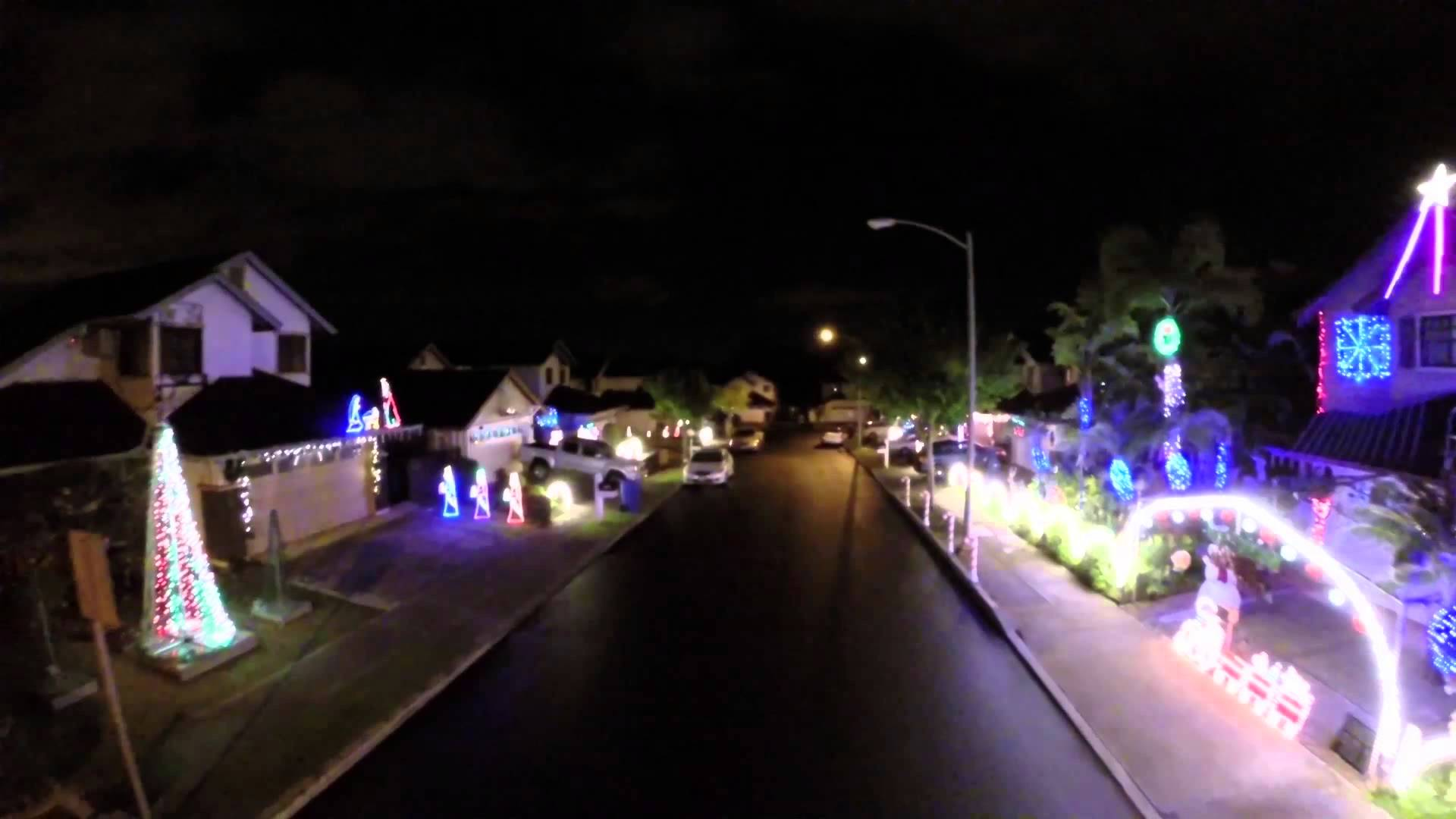 hawaii christmas lights  in