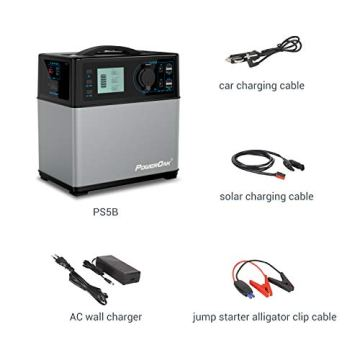Hochleistungsakku Generator 400Wh Tragbare Energiespeicher mit Lithium-Ionen Zellen Solar Generator(Super Leichtgewicht, nur 5,6 kg,ladbar über die Steckdose, Solarzellen, 12V – Autosteckdose) - 7
