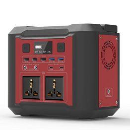 Mobile Stromversorgung Generatoren Tragbarer Power Station, 296Wh/80000mAh Energiespeicher Notstrom mit USB DC/AC Wechselrichter und LCD Anzeige LED licht Für Camping Wandern Hausgarten (Rot) - 1