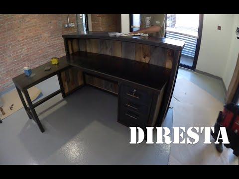 reception desk bauen im zeitraff