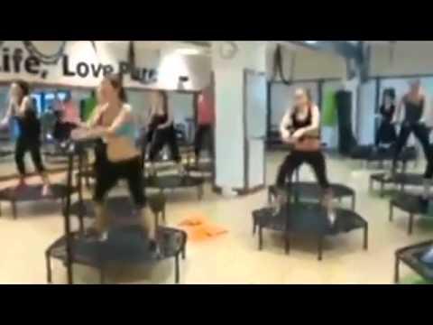 techno und trampolin workout