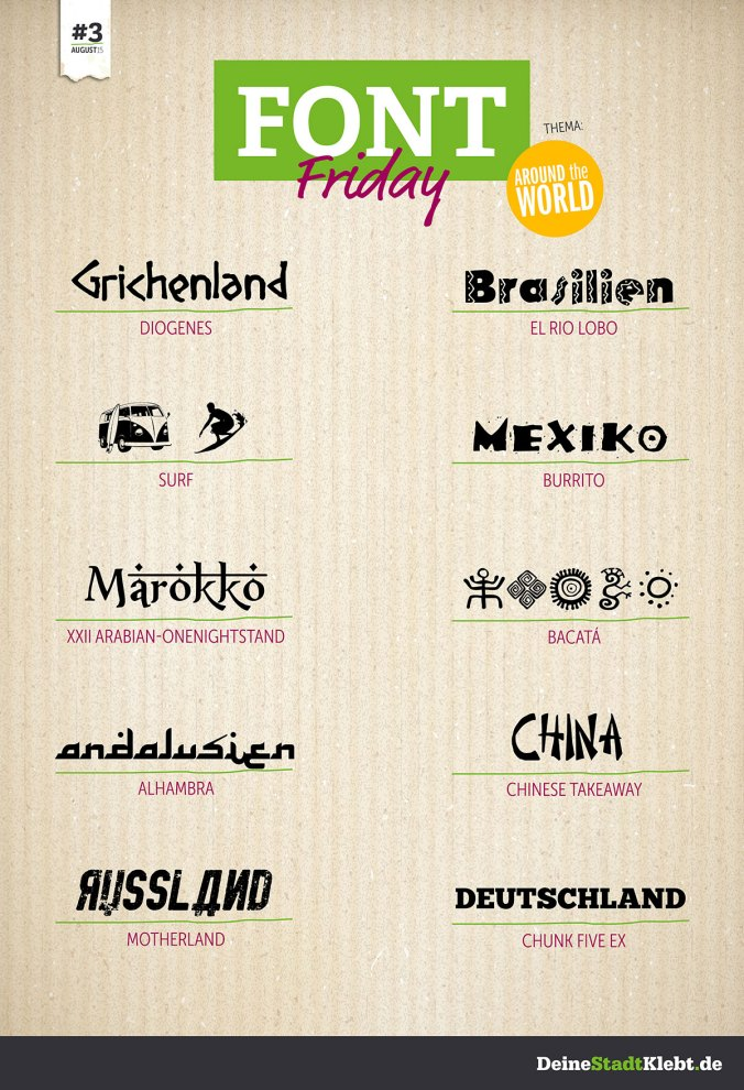 Font-Friday_August2015_Around the world