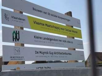 IMG_3973 Bouw van sociale koopwoningen in Bachte-Maria-Leerne (Deinze) gestart