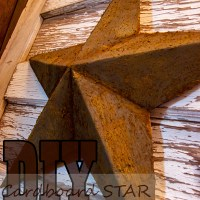 DIY Cardboard Star & Rusting Technique
