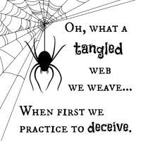 Tangled Web Halloween Printable