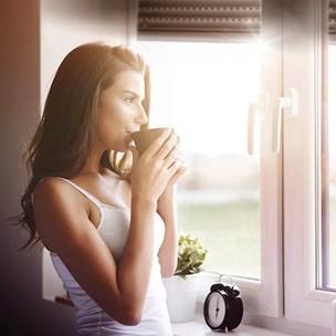 Koffiemoment in de ochtend.