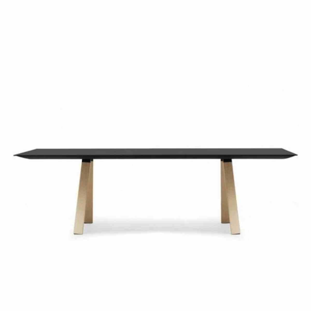 Arki design tafel wood de jong kantoormeubilair for Table structure design