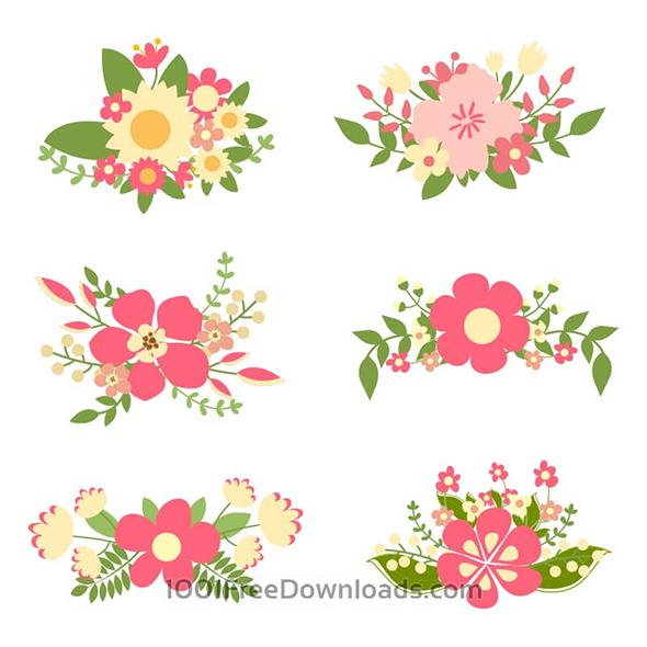 Цветы в векторном формате