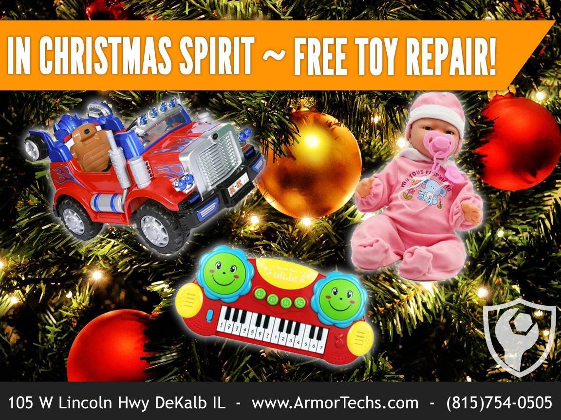 Free toy repair at Armor