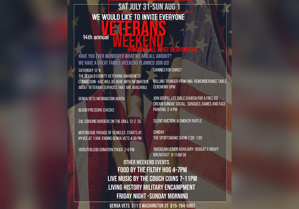 14th Annual Veterans Weekend Schedule Banner