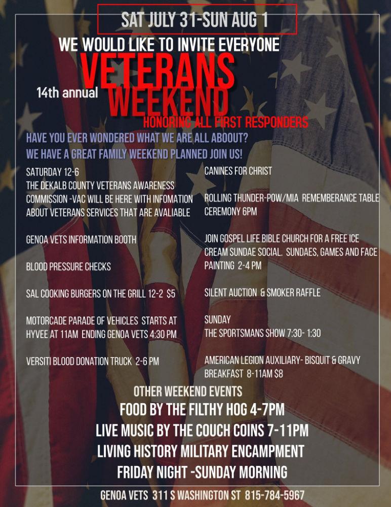 14th Annual Veterans Weekend Schedule