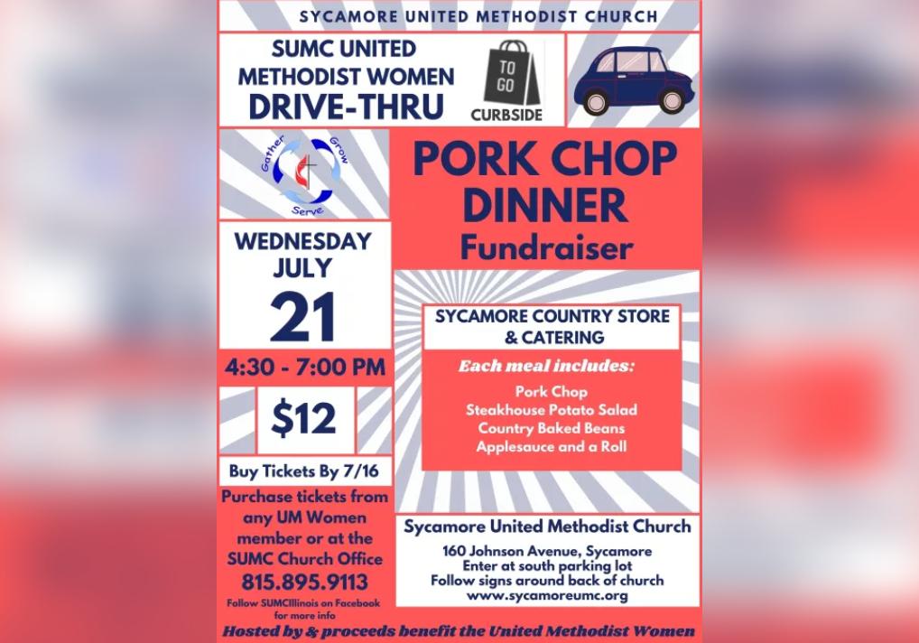 United Methodist Women Pork Chop Drive-Thru Dinner Fundraiser