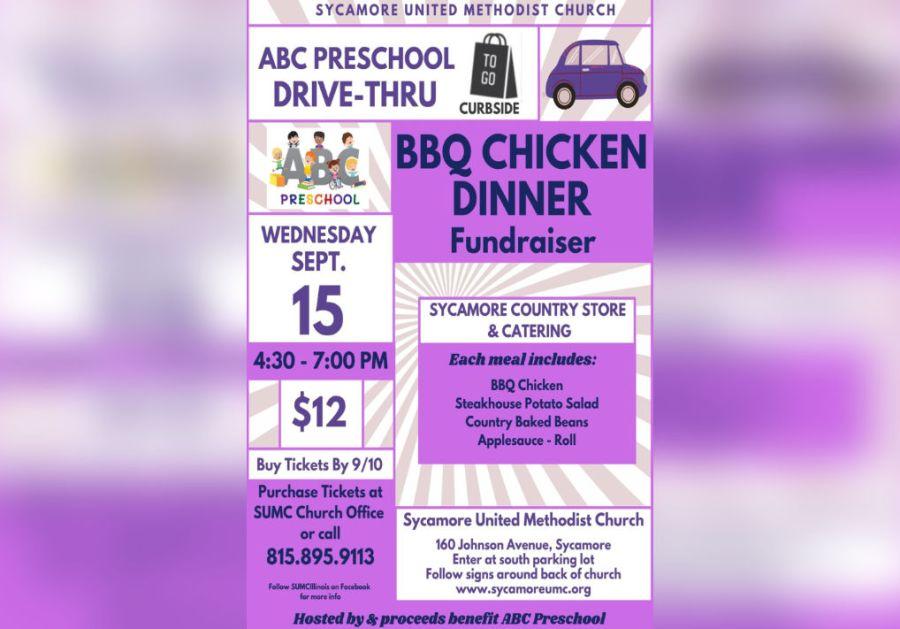 ABC Preschool BBQ Chicken Drive Thru Dinner Fundraiser