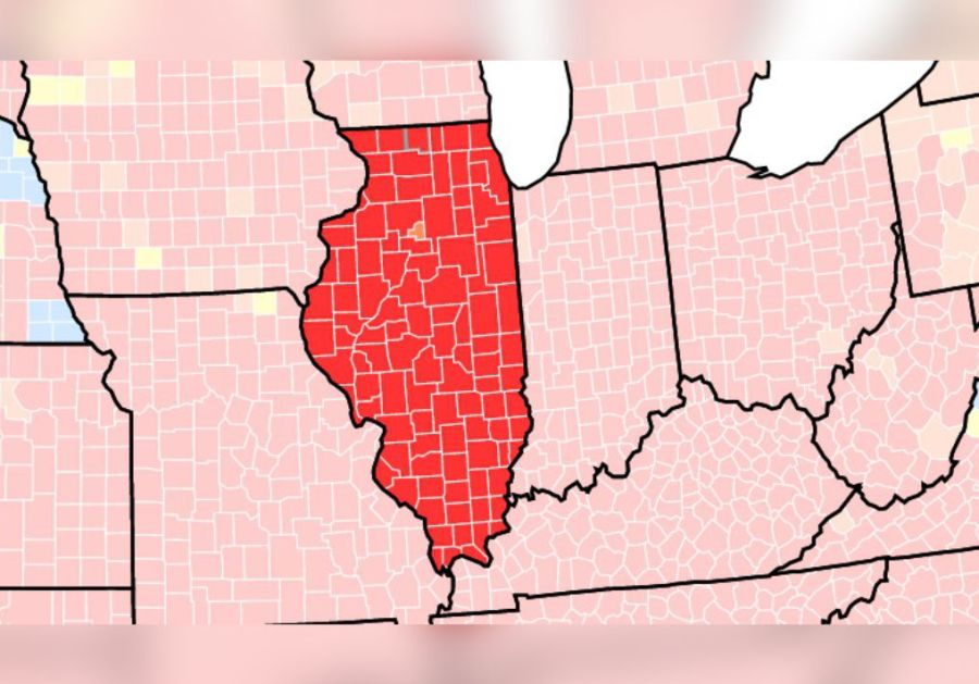 All But One County In Illinois At High Risk For Transmission Of COVID-19