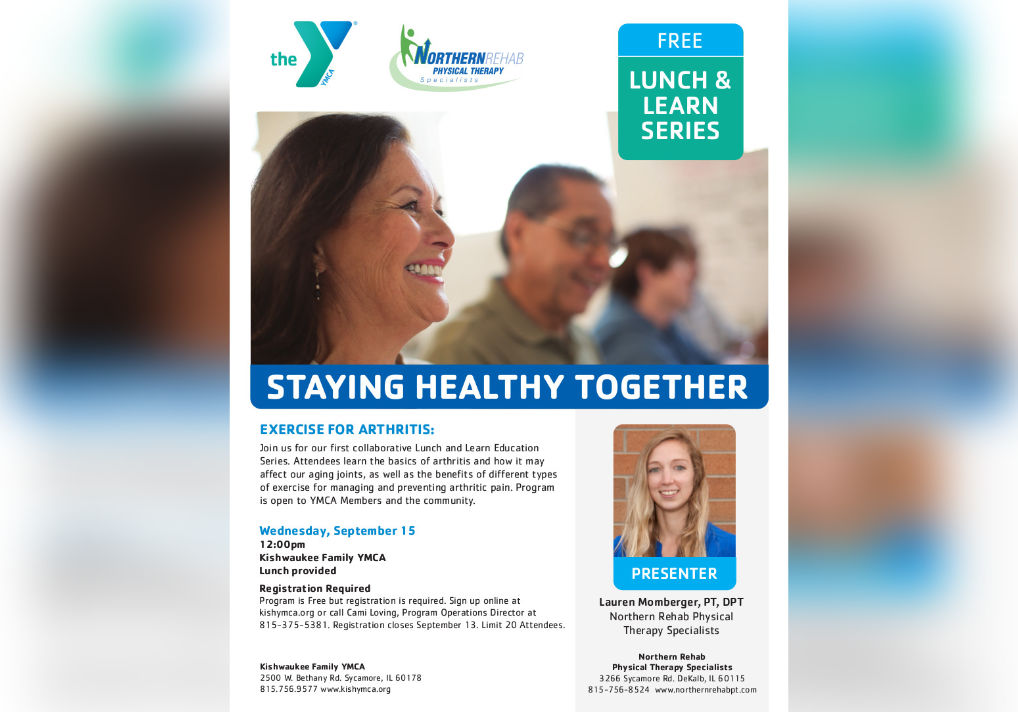 Free Lunch & Learn Series Hosted By Kishwaukee YMCA And Northern Rehab