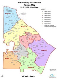 DeKalb Schools Regions