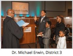 Dr. Michael Erwin | Board Members Take Oath of Office