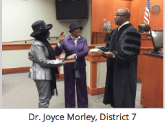 Dr. Joyce Morley | Board Members Take Oath of Office
