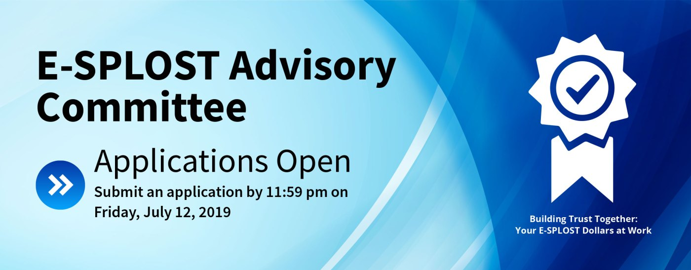 E-SPLOST advisory committee 2019