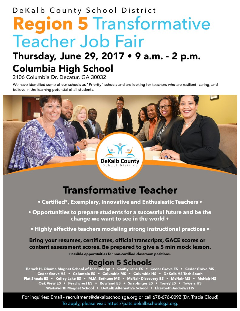Transformative Teacher Job Fair 2017 Revised 2