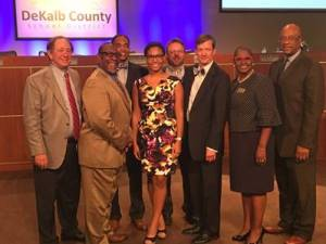 Shania Hinds, a senior at Redan High School, represented the students of the DeKalb County School District at the Oct. 2, meeting of the DeKalb County Board of Education.