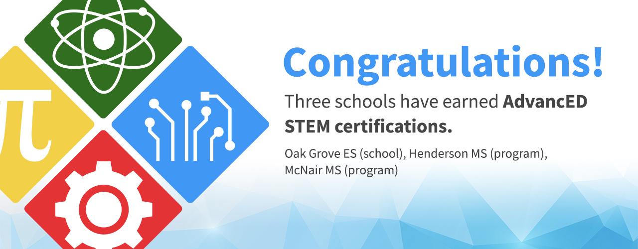 stem certification schools district dcsd
