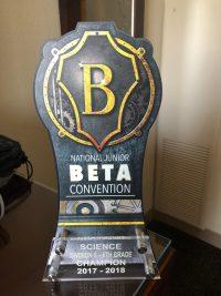 national junior beta club trophy