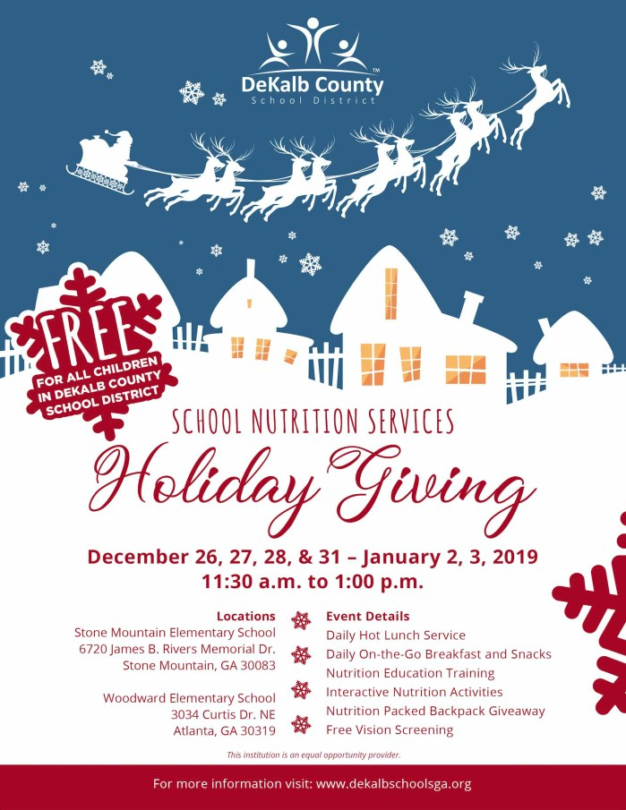 holiday giving flyer
