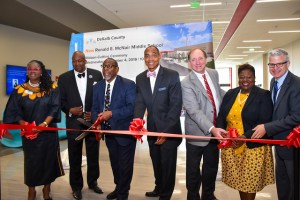 DCSD administrators cut ribbon