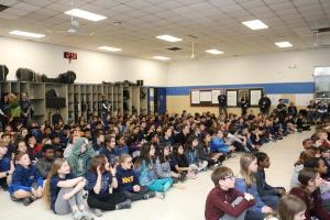 Kittredge Magnet School students chat with astronaut on International Space Station