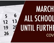 school closure banner