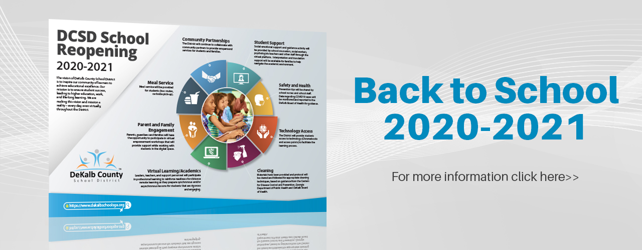 Back to School infographics 2020 Web Banner
