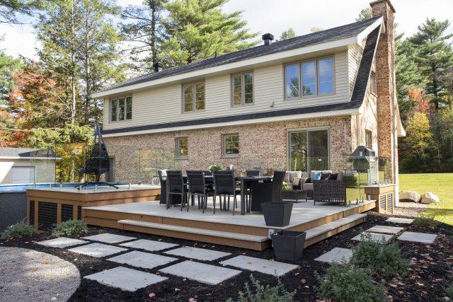 Planche pour un patio durable